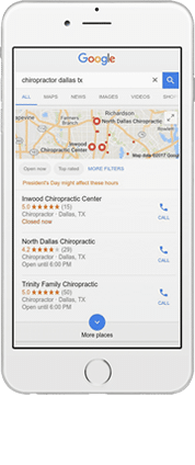 Chiropractic local seo
